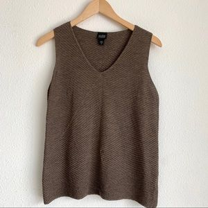 Eileen Fisher V neck wool tank top